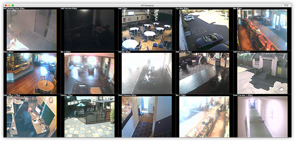 Click for full-size. The quality is fairly typical for analog cameras; the hotel will be gradually switching to IP cameras, which offer far higher quality.